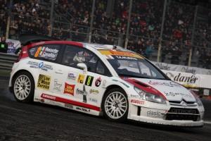 Tobia Cavallini in azione al Rally di Monza 2012