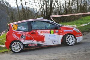 Massimiliano Giannini in azione al 36° Rally il Ciocco