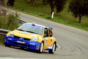 Lencioni in azione con la Renault Clio S1600
