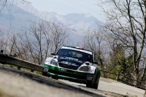 Scandola in azione al 35° Rally Il Ciocco