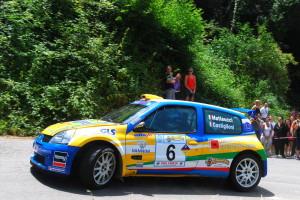 Matteucci in azione con la Clio S1600