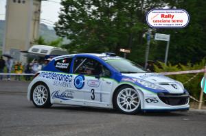 Senigagliesi-Morganti Peugeot 207 S2000 in azione al Rally di Casciana 2012