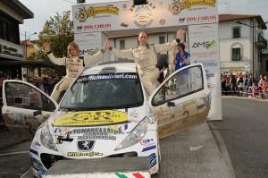 Lucchesi-Ghilardi sul podio del 29° Rally della Valdinievole