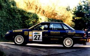 Stefano Bizzarri, vincitore dell'edizione 1994 con la Subaru Legacy/Procar
