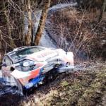 Danni subiti dalla vettura di Kubica